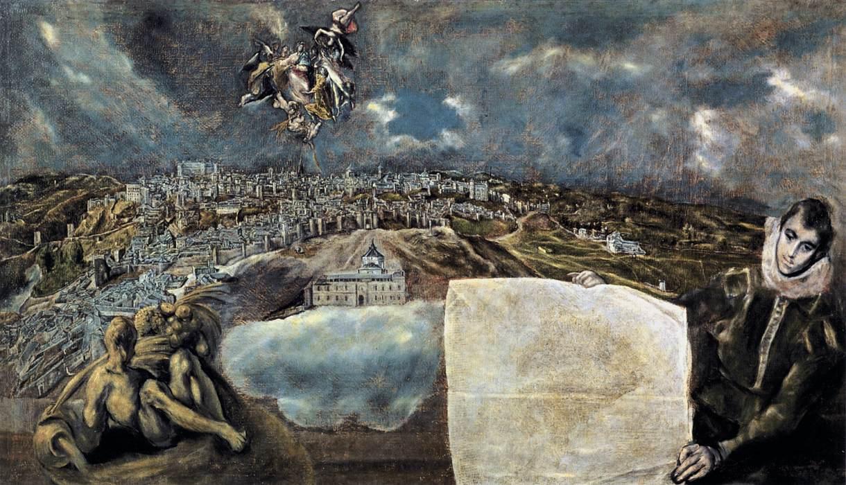 El Greco View and Plan of Toledo, 1610