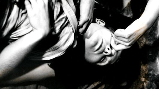 Film still from Sandra Lahire's Lady Lazarus, 1991.